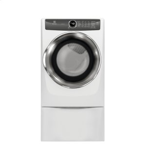 Front Load Perfect Steam Electric Dryer with LuxCare® Dry and Instant Refresh - 8.0 Cu. Ft. - WHITE