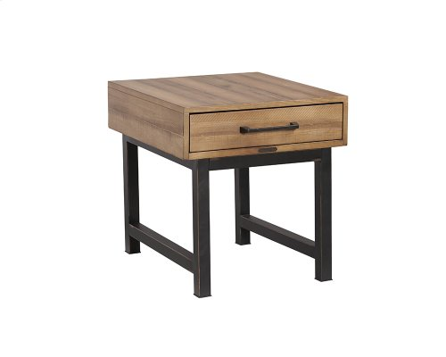 Salvage Pier & Beam End Table