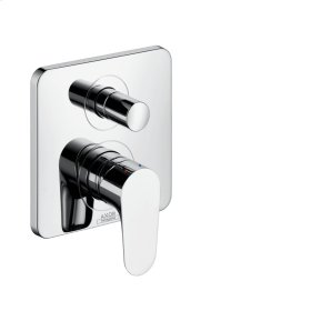 Brushed Gold Optic Single lever bath mixer for concealed installation with integrated security combination according to EN1717