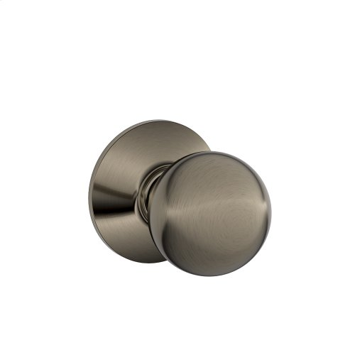 Orbit Knob Hall & Closet Lock - Antique Pewter