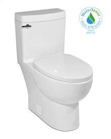 White MALIBU II Two-Piece Toilet 1.28gpf, Compact Elongated