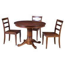 "42"" Solid Top Pedestal Table"
