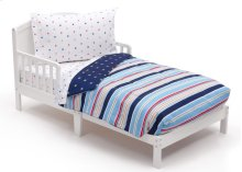 Stars and Stripes 4-Piece Toddler Bedding Set - Kid bundle - Stars and Stripes (2200)