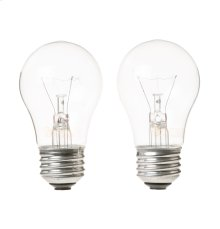 40A15 2 PACK CLEAR BULBS