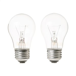 Ge Appliances40A15 2 PACK CLEAR BULBS