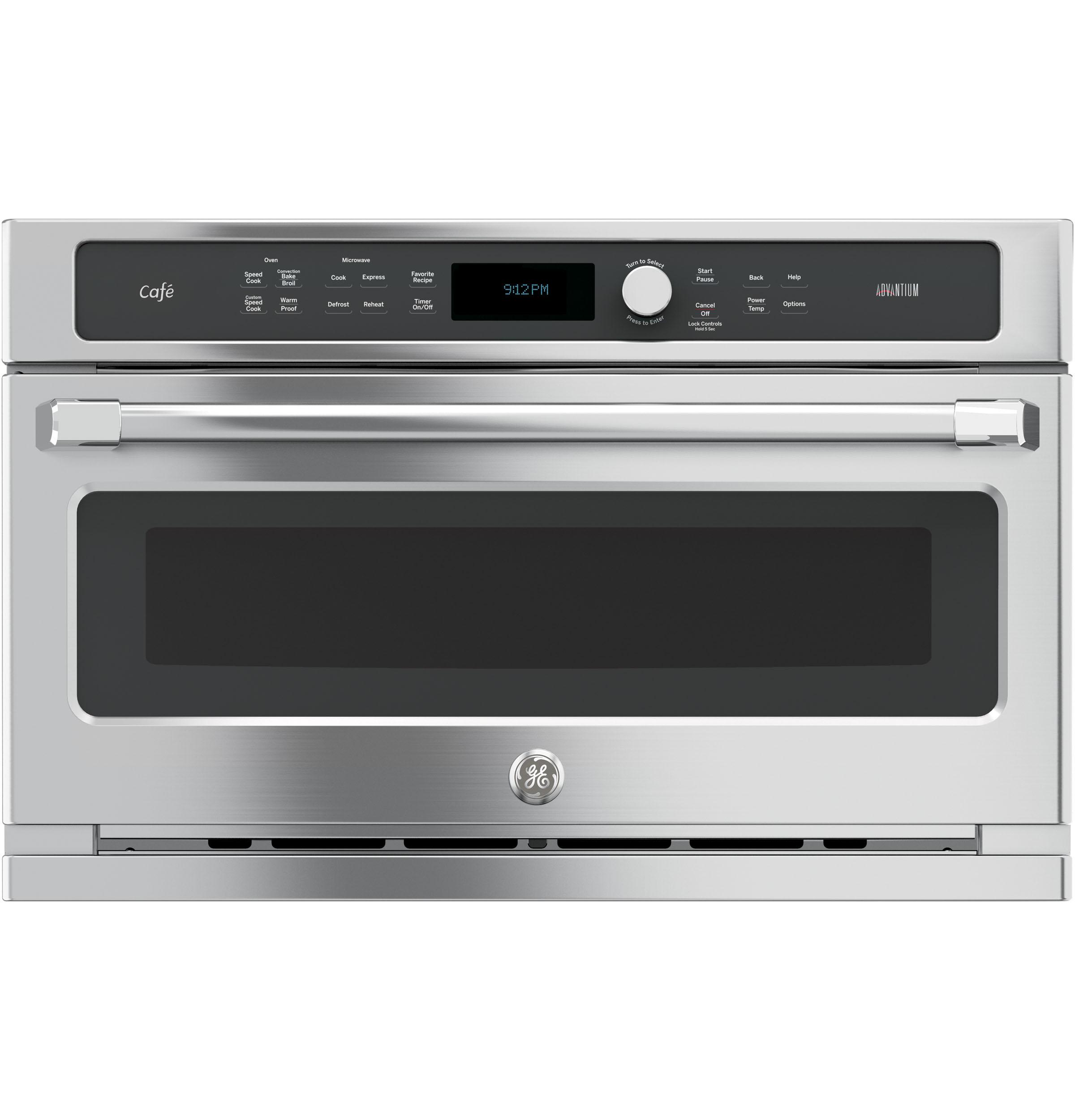 GE Cafe(TM) Series 30 in. Single Wall Oven with Advantium(R) Technology