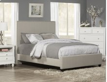 Megan Cal King Bed - Dove Gray