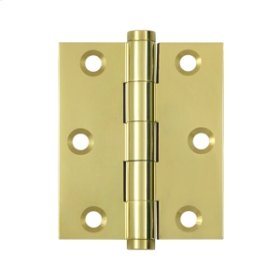 "3""x 2 1/2"" Screen Door Hinge - Polished Brass"