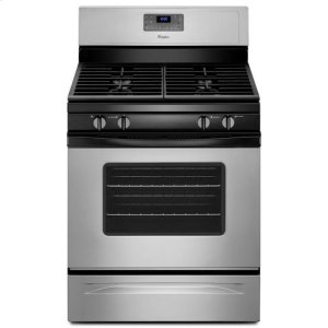 WhirlpoolWhirlpool® 5.0 Cu. Ft. Freestanding Gas Range With Accubake® Temperature Management System - Universal Silver