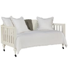 Jo's White Framed Panel Daybed