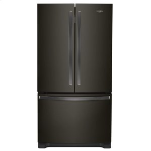 36-inch Wide Counter Depth French Door Refrigerator - 20 cu. ft. - FINGERPRINT RESISTANT BLACK STAINLESS