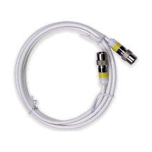 6' Mini Coaxial Cable White