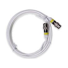 6' Mini Coaxial Cable White