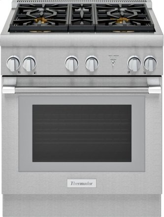 30-Inch Pro Harmony™ Standard Depth Gas Range PRG304WH
