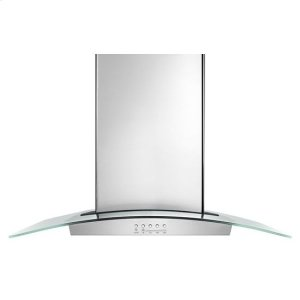 "Amana36"" Modern Glass Wall Mount Range Hood - stainless steel"