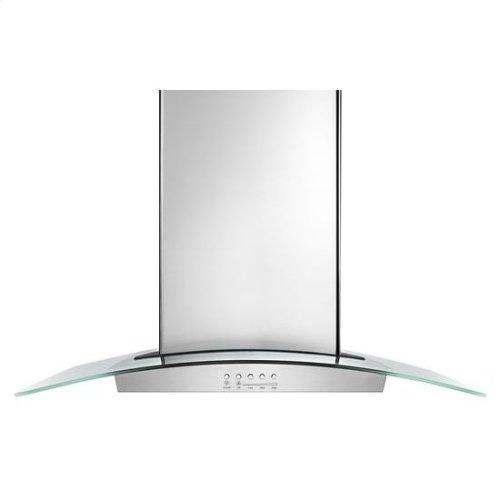 "36"" Modern Glass Wall Mount Range Hood - stainless steel"