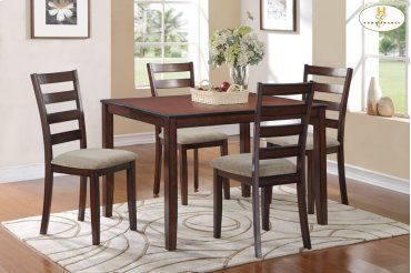 5-Piece Pack Dinette Set Table: 36 x 48 x 30H Chair: 17 x 20 x 38H