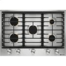 """30"""" 5-Burner Gas Cooktop, Stainless Steel Product Image"""