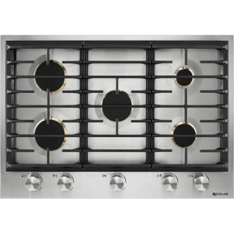 """Euro-Style 30"""" 5-Burner Gas Cooktop, Stainless Steel"""