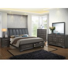 Jaymes King Bedroom Set: King Bed, Nightstand, Dresser & Mirror