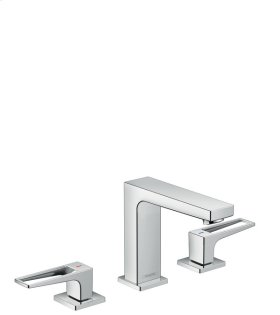 Chrome Metropol 110 Widespread Faucet with Loop Handles without Pop-Up, 1.2 GPM