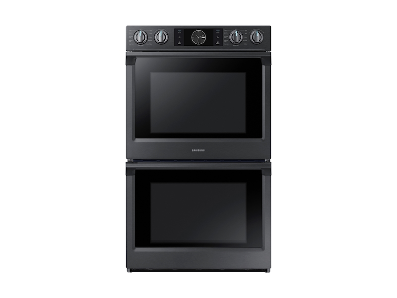 "Samsung Appliances30"" Flex Duo Double Wall Oven In Black Stainless Steel"