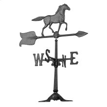 "24"" Horse Accent Weathervane - Black"