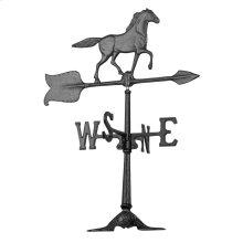 "24"" Horse Accent Weathervane - Black"