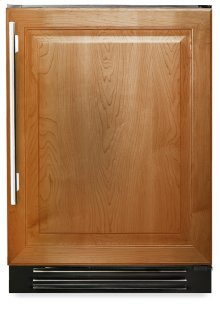 24 Inch Overlay Solid Door Beverage Center - Left Hinge Overlay Solid