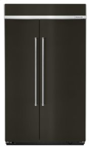 30.0 cu. ft 48-Inch Width Built-In Side by Side Refrigerator with PrintShield Finish - Black Stainless Product Image