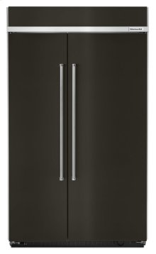 30.0 cu. ft 48-Inch Width Built-In Side by Side Refrigerator with PrintShield Finish - Black Stainless