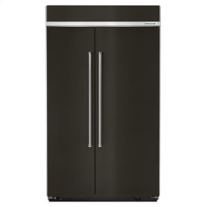 KitchenAid30.0 cu. ft 48-Inch Width Built-In Side by Side Refrigerator with PrintShield Finish - Black Stainless