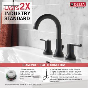 Swell 3559Blmpudst In Matte Black By Delta Faucet Company In West Interior Design Ideas Inesswwsoteloinfo