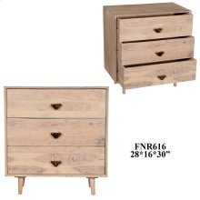 Bengal Manor Mango Wood 3 Drawer Chest Light Finish