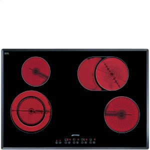 "Smeg77CM (30"") Ceramic Cooktop Angled-edge Glass"
