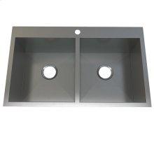 Atelier stainless steel double bowl- topmount