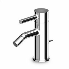 """Single lever bidet mixer with aerator, 1 1/4"""" pop-up waste, flexible tails."""