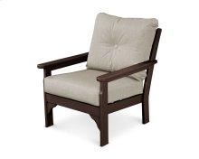 Mahogany & Cast Ash Vineyard Deep Seating Chair