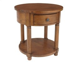 Attic Heirlooms Round End Table