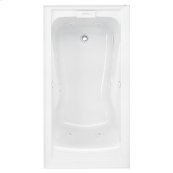 EverClean 60x32 inch Whirlpool with Apron - White