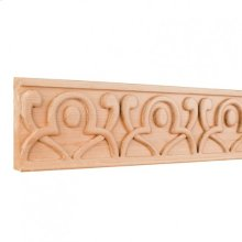 "4"" x 7/8"" x 96"" Hand Carved Geometric Frieze Moulding. e Hardware Resources, Inc. Species: Cherry. Priced by the linear foot and sold in 8' sticks in cartons of 80'."