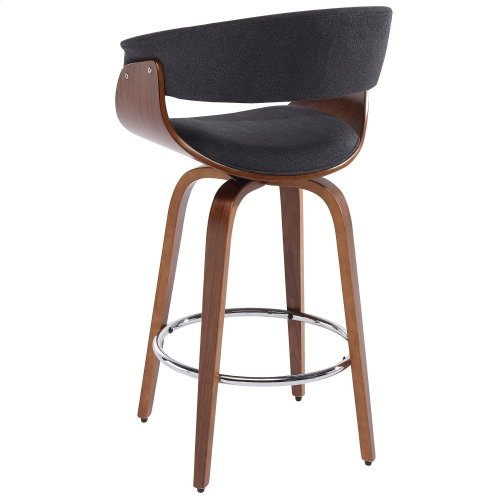 """Holt 26"""" Counter Stool in Charcoal Grey"""