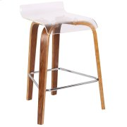 Clarity Counter Stool - Walnut / Clear Product Image