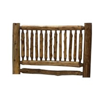 Small Spindle Headboard - King - Natural Cedar