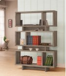 - Five tier bookcase finished in weathered grey- Constructed with MDF, particle board, and engineered veneer- Also available in cappuccino (#801405), white (#801406), and salvaged cabin (#800846) Product Image