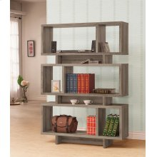 Contemporary Weathered Grey Bookcase