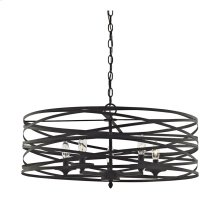 Vorticy 5-Light Chandelier in Oil Rubbed Bronze with Metal Cage