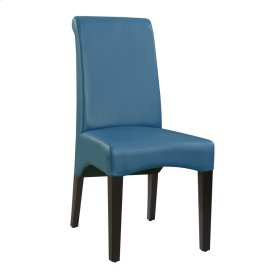 Dining Chair Upholstered Seat & Back-kd-pu Teal#al850-10 (2/ctn)