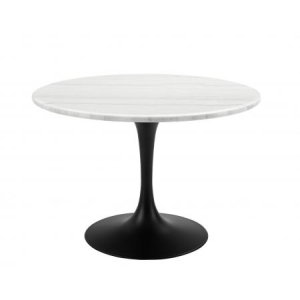 Steve Silver Co.Colfax 45 inch Round White Marble Top/Black Base Dining Table
