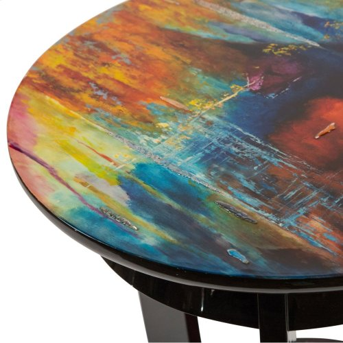 Round Chair Side Table
